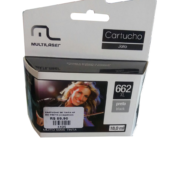 Cartucho HP 662 Preto Multilaser