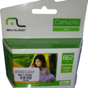 Cartucho HP 662 Tricolor Multilaser